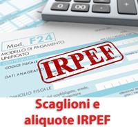 Scaglioni aliquote IRPEF