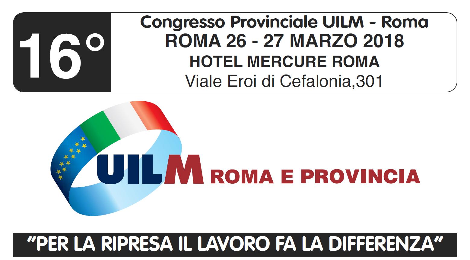 Congresso UILM ROMA 2018